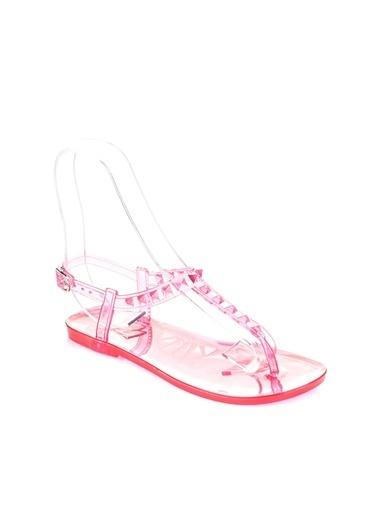 Pembe Potin A1605-17 Kadın Sandalet A1605-17 Kırmızı